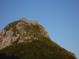 The famous Chateau de Montsegur, just a few minutes away