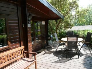 Whinfell Tarns 1st Decking Area with outdoor furniture