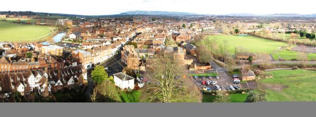View from the top of Tewkesbury Abbey