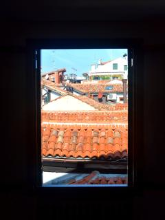 View of Venetian roofs from one of the windows
