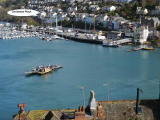 Christmas Place and Kingswear viewed from above Dartmouth town