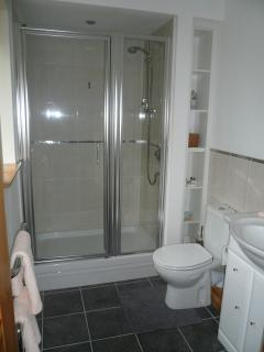 shower room  with large shower tray