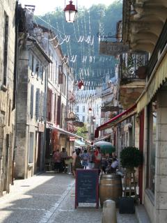 One of the many beautiful streets to explore in Brantome, just on your doorstep!