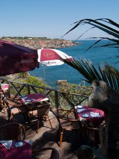 1 min from the apartment, lots of bar and restaurant with amazing Sea view
