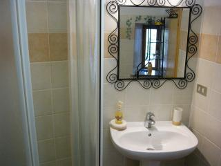 Small ground floor bathroom with shower