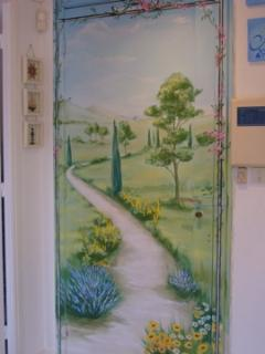 Where from Here!! Beautiful Door Painted by Local Artist