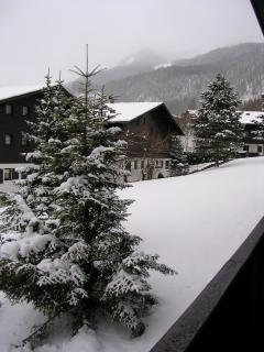 View from balcony in winter