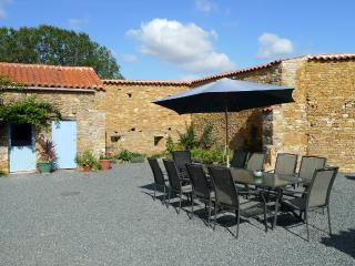 The Large Sunny Courtyard at La Maison en Pierre