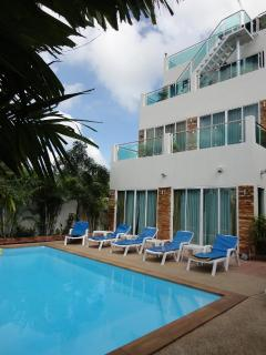 Luxury 3 Storey 4 bedroom villa set in private tropical garden with pool, offering full privacy
