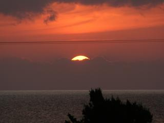 Sunset over Makrigialos - this could be your view!