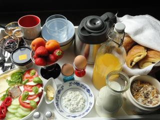 This is our famous breakfast which we will bring to you on the agreed hour