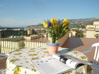 Apartment Sun in Sorrento Center beautiful terrace overlooking the sea
