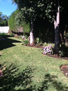 side garden round villa