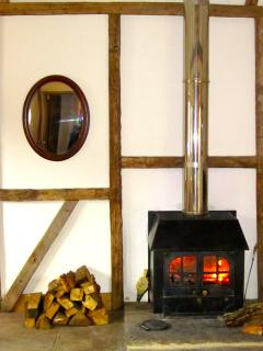 Cosy real wood fire.