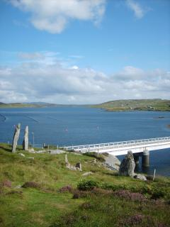 The bridge to Bernera with its standing stones - There is also a Viking Mill and Fort on Bernera