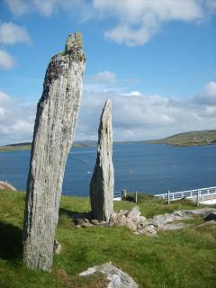 Standing Stones of Bernera reflect the major stone circle  site at  Callanish ( 30 min drive)