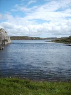 Yet another Bernera fresh water loch. Fishing for trout on Bernera is great fun.