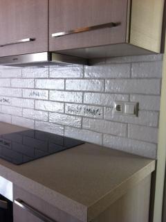 Kitchen view, tiles