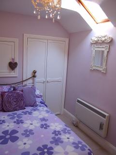 The 2nd bedroom with 3/4 size bed
