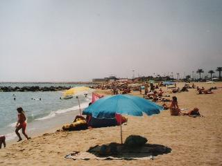 The beach nearest to the apartment – less than 5 minutes walk away