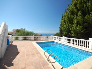 Great pool with views to the Med.