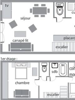 PLAN DE L'APPARTEMENT DUPLEX