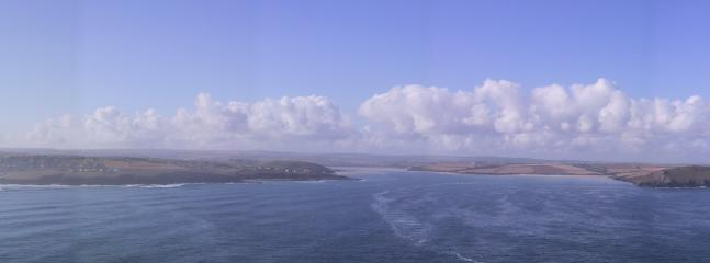 View from Pentire towards Trebetherick and the Estuary