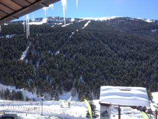 Wintertime Balcony View towards Soldeu