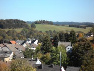 Blick von der Terasse auf den Ort Stadtkyll