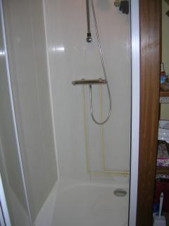 espace salle de bain, avec la douche
