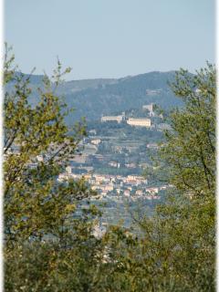 View of Cortona, from the solarium