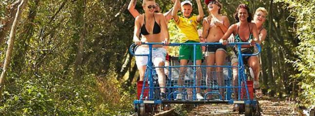 Velo rail good fun for all the family from Confolens or Roumazieres