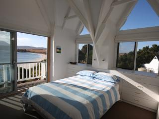 The master bedroom with private deck