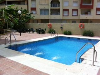 Apartamento 2 dormitorios, piscina cerca de centro, Almuñécar