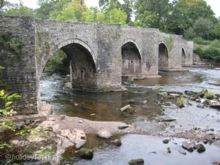 Llangynidr's ancient bridge over the River Usk