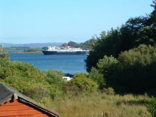 Craignure bay and Isle of Mull ferry - view from the rear of the property.