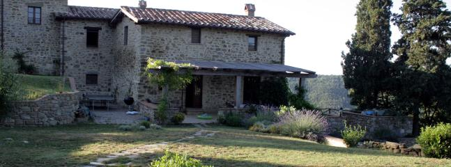 The west side of farmhouse villa Casa Colcello. Sunshine all day long.