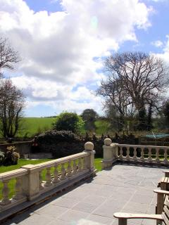 Far reaching views over open countryside from the patio