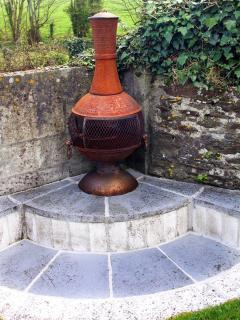 Have a tasty barbecue using the chimnea provided