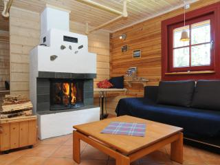 Cosy fireplace gives charming feeling