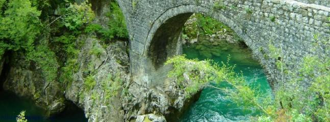 Wooden Bridge & Mrtvica River, Mrtvica Canyon