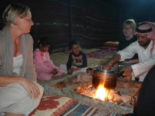 family meals, outdoors, round the camp-fire