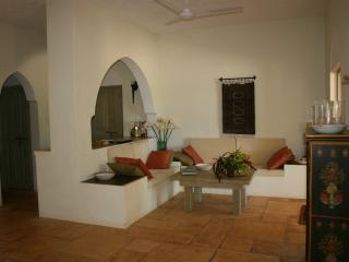Downstairs sitting room with flat screen TV and DVD player with an option for DSTV. Wi-fi available