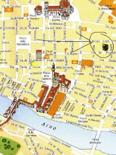 map of the center of Florence