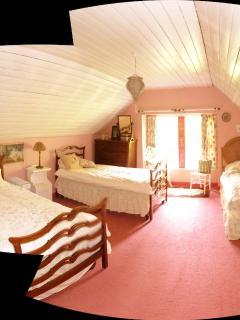 The pink Garden Bedroom (triple) ideal for kids.