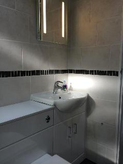 Sink with vanity unit