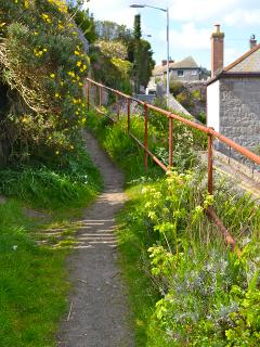 Private path to the cottage