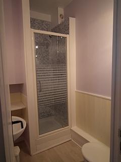 The en-suite shower/toilet/wash basin