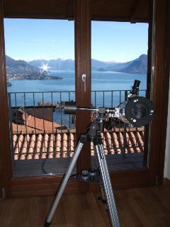 Telescope for close up of the islands