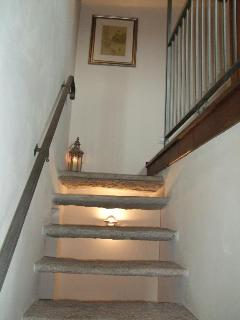 Renovated granite staircase